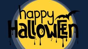 Glückliche Halloween-Beschriftung Lizenzfreies Stockfoto