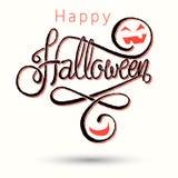 Glückliche Halloween-Beschriftungskarte Stockfotos
