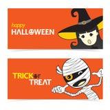 Glückliche Halloween-Fahne Lizenzfreie Stockfotos