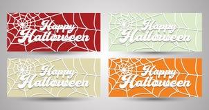 Glückliche Halloween-Fahnen-Sammlung EPS10 lizenzfreie abbildung