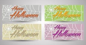 Glückliche Halloween-Fahnen-Sammlung EPS10 vektor abbildung