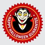 Glückliche Halloween-Garantie-Robbe/Kennsatz lizenzfreies stockbild