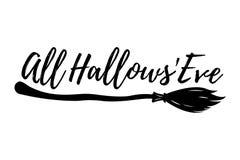 Glückliche Halloween-Gruß-Karte Halloween-Plakat und -fahne auf Wh Lizenzfreie Stockfotos