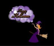 Glückliche Halloween-Grußkarte Kalligraphie Lizenzfreie Stockfotos