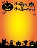 Glückliche Halloween-Kürbis-Grafik-Schablone Stockfotos