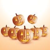 Glückliche Halloween-Kürbise Stockfotografie