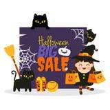 Glückliche Halloween-Karikatur stockfotos