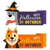 Glückliche Halloween-Karikatur lizenzfreie stockfotos