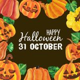 Glückliche Halloween-Karikatur lizenzfreies stockbild