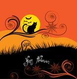 Glückliche Halloween-Karte Stockbild