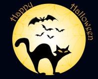Glückliche Halloween-Karte Stockfotos