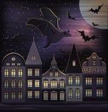 Glückliche Halloween-Nacht Lizenzfreie Stockfotos