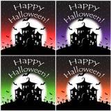 Glückliche Halloween-Nacht mit den Schlägern Lizenzfreie Stockfotografie
