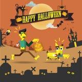 Glückliche Halloween-Nachtpartei Lizenzfreies Stockbild
