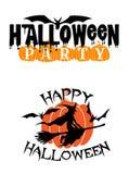 Glückliche Halloween-Parteianzeige Stockfoto