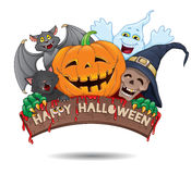 Glückliche Halloween-Spaßfahne Lizenzfreies Stockfoto