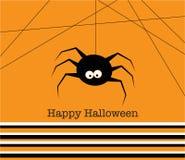 Glückliche Halloween-Spinne Stockfotos