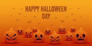 Glückliche Halloween-Tageshintergrund-Fahnenschablone vektor abbildung