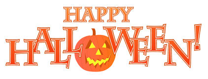 Glückliche Halloween-Textauslegung Stockfotografie