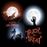 Glückliche Halloween-Vektoren Lizenzfreie Stockfotografie