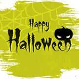 Glückliche Halloween-Vektorillustration 2018 mit furchtsamem Hintergrund und Text von glücklichem Halloween vektor abbildung