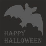 Glückliche Halloween-Vektorkarte mit Schläger und Wünschen Lizenzfreies Stockfoto