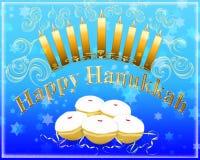 Glückliche Hanukkah-Gruß-Karte Stockfoto