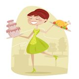Glückliche Hausfrau Stockfotos