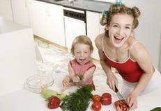 Glückliche Hausfrau lizenzfreie stockbilder