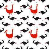 Glückliche Hennenzeichentrickfilm-figur in den verschiedenen Haltungen lokalisiert Flache Illustration des Hennen- und Hahnvektor stock abbildung