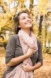 Glückliche Herbstschönheit Stockbild