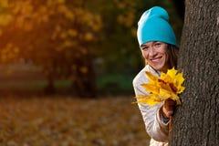 Glückliche Herbstzeit Stockfoto