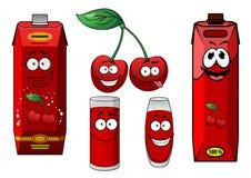 Glückliche herry Frucht und Säfte Lizenzfreie Stockfotos