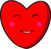 Glückliche Herz-Ikone Lizenzfreie Stockfotos