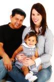 Glückliche hispanische Familie stockfoto