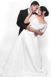 Glückliche Hochzeits-Paare in der Liebe Stockfotografie