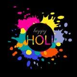 Glückliche Holi-Illustration Stockfotos
