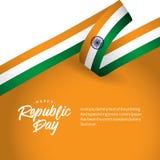 Glückliche Indien-Tag der Republik-Vektor-Entwurfs-Illustration lizenzfreie abbildung