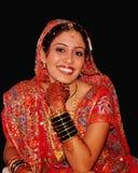 Glückliche indische Braut Stockfotos