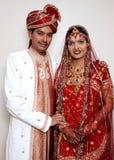 Glückliche indische Paare Stockfoto