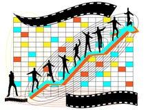 Glückliche Investition, Geschäftserfolg Stockbild