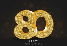 20 - glückliche Jahrestagsfahne des Jahres 20. Jahrestagsgoldlogo auf dunklem Hintergrund Stockfotos