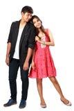 Glückliche junge asiatische Paare stockfotos
