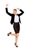 Glückliche junge blonde Geschäftsfrau Lizenzfreies Stockbild