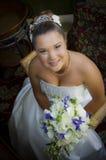 Glückliche junge Braut Lizenzfreie Stockfotografie