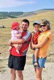 Glückliche junge Familie Lizenzfreies Stockfoto