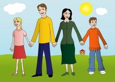 Glückliche junge Familie vektor abbildung