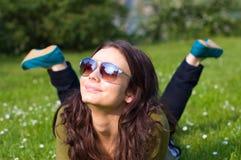 Glückliche junge Frau Lizenzfreies Stockfoto