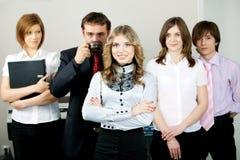Glückliche junge Geschäftsfrau. lizenzfreie stockbilder