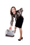Glückliche junge Geschäftsfrau Stockfoto